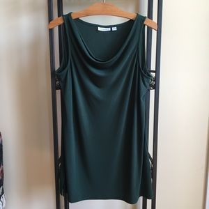 Susan Graver Liquid Knit Sleeveless Tunic - M
